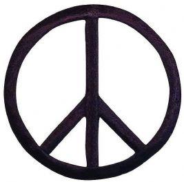 Large Black 60s Peace Sign