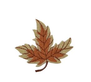 Large Leaf - Tan/Rust