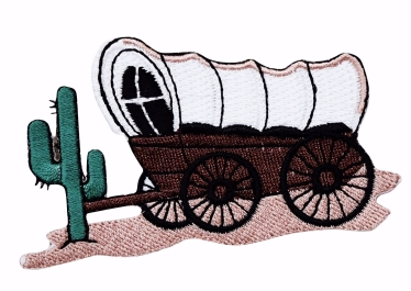 Old West Covered Prairie Schooner Wagon