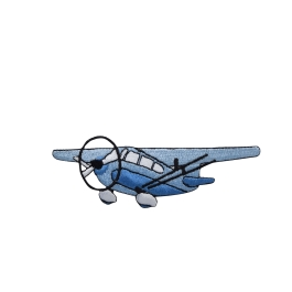 Blue Cessna Style Airplane