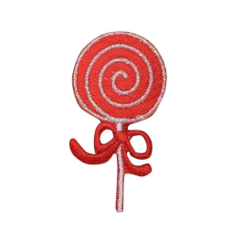 Red and White Swirl Lollipop