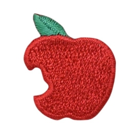 Red Apple with Missing Bite