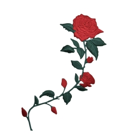 Red Roses Curved Stem Facing Right