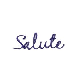Purple Salute Greeting