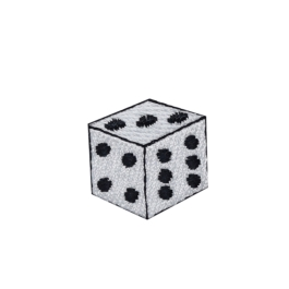 Single White Gambling Dice