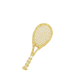 Small Gold Tennis Racquet