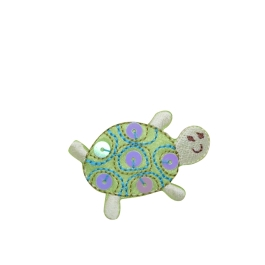 Childrens Light Green Sequin Turtle