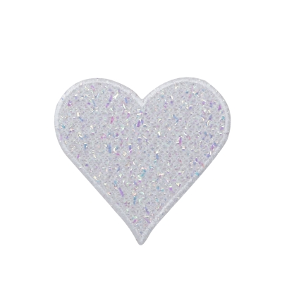 White Confetti Heart