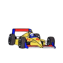 Yellow Racing F-1 Race Car